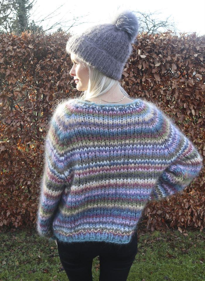 Image of   Strikkeopskrift anine sweater og mohairhue