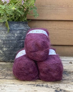 Love mohair garn - Bordeaux