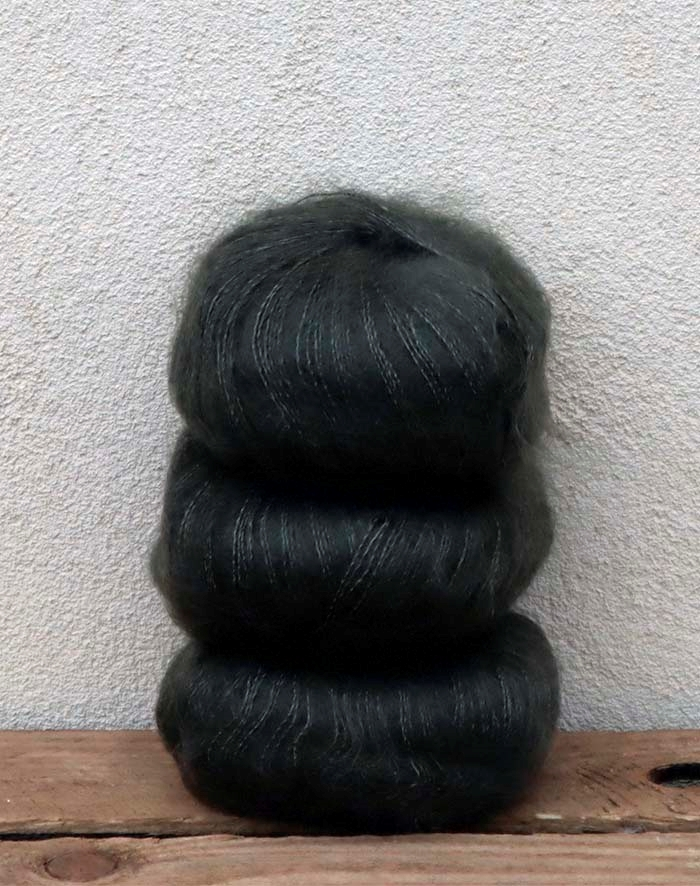 Image of   Wadils silkemohair - oliven