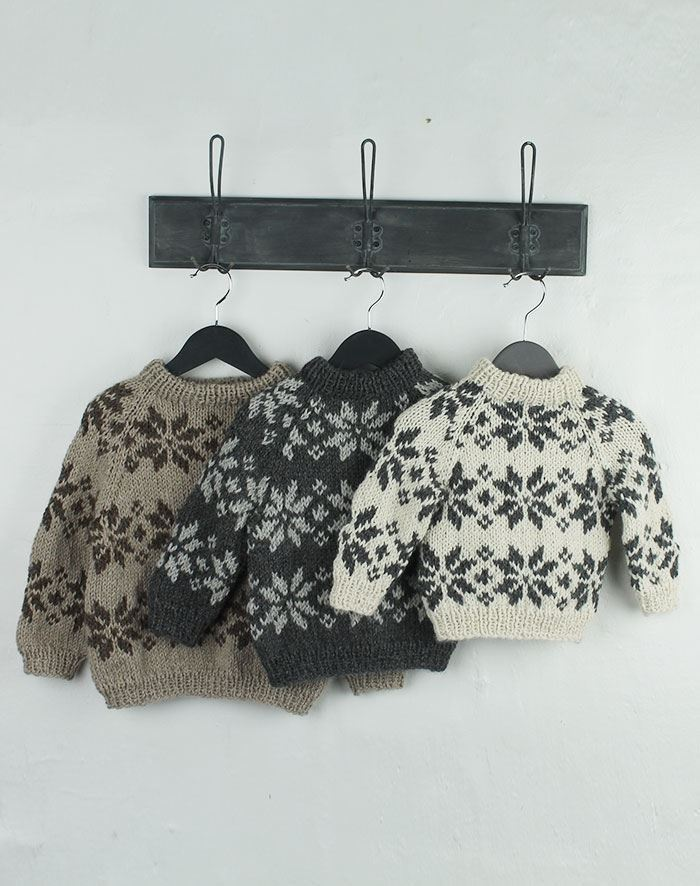 Image of   Isblomst sweater 1-4 år - opskrift
