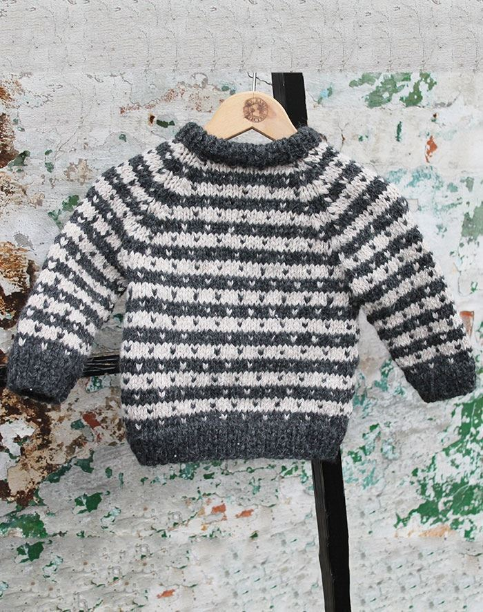 Image of   Retro sweater baby opskrift