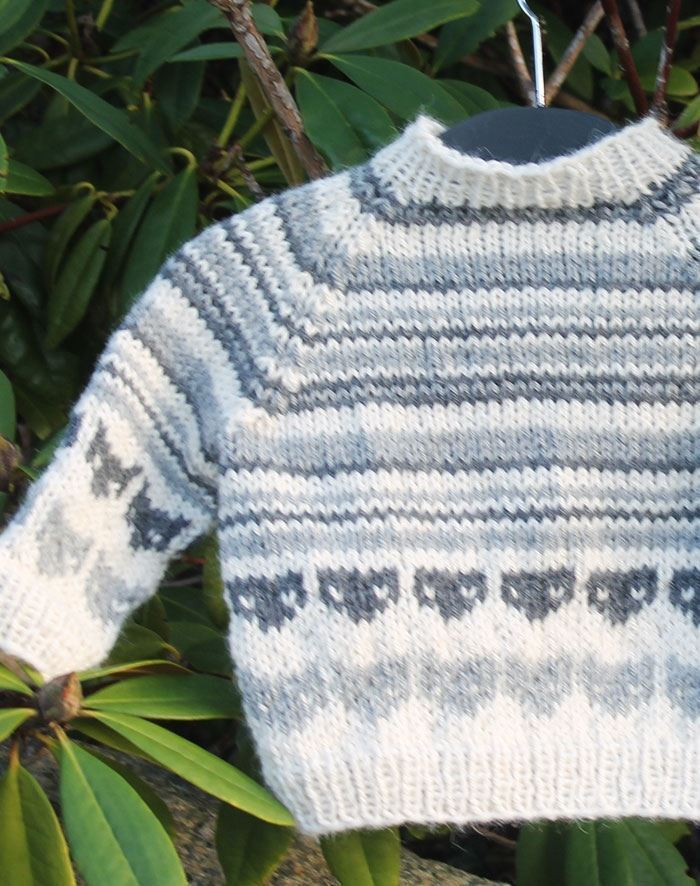 93a2c3bd091 Katte sweater til baby strikkekit