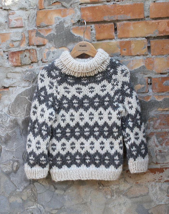 børne øko uld islandsk sweater by Mother of two