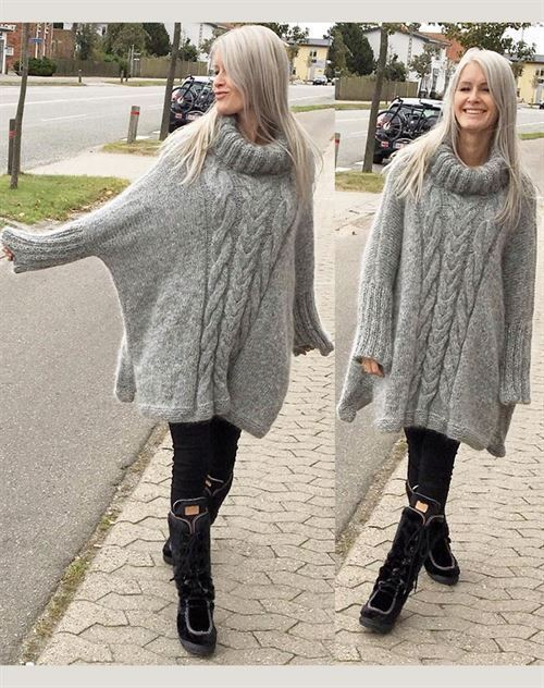 Bente-maj oversize sweater one-size
