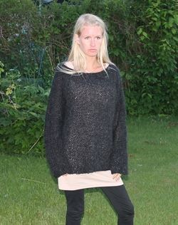 strikbluse i superkid mohair by Mother of two