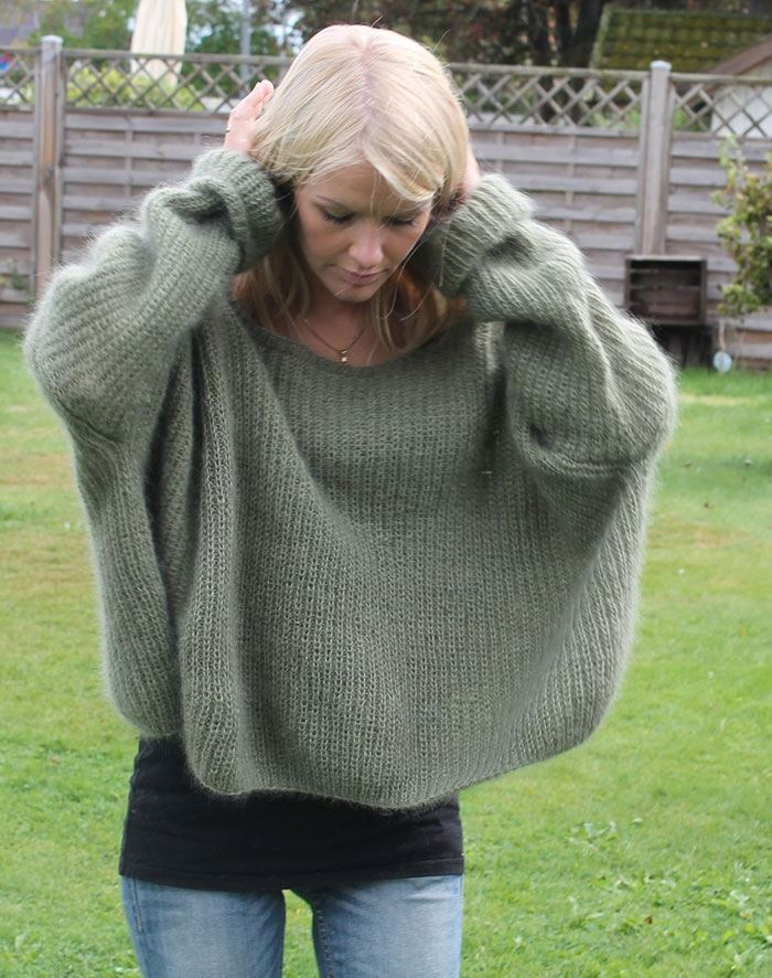 Image of   Græsenke sweater strikkekit