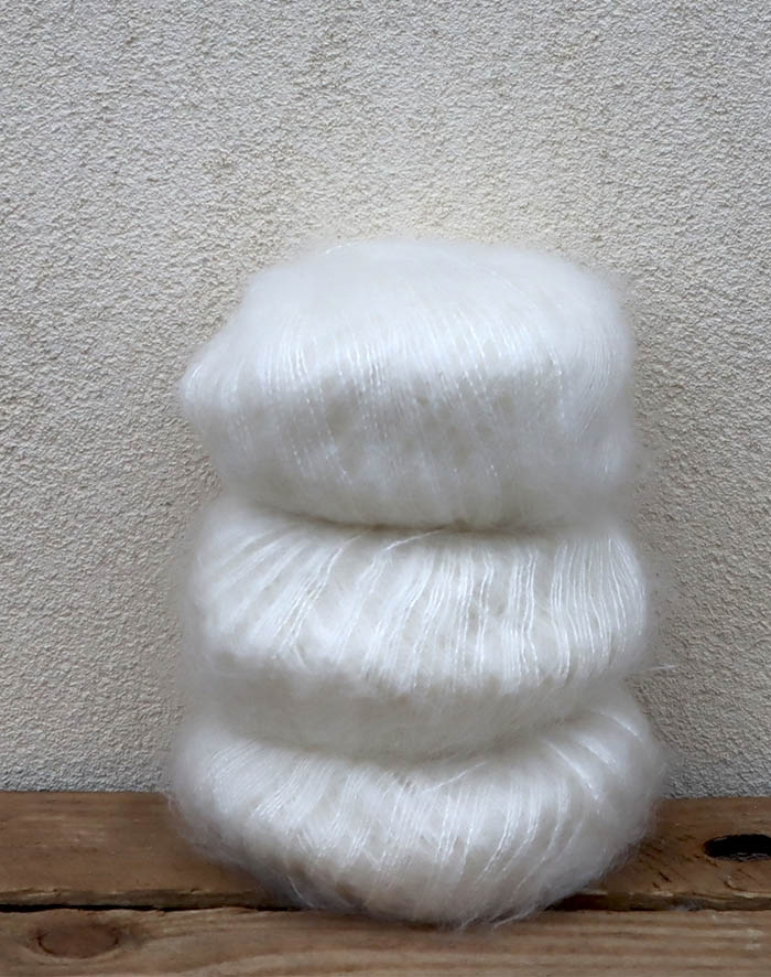 Image of   Wadils silkemohair - råhvid